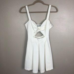 |TOBI| white cut out dress